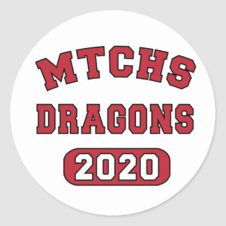 Swag for the Class of 2020 Classic Round Sticker