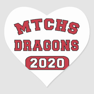 Swag for the Class of 2020 Heart Sticker