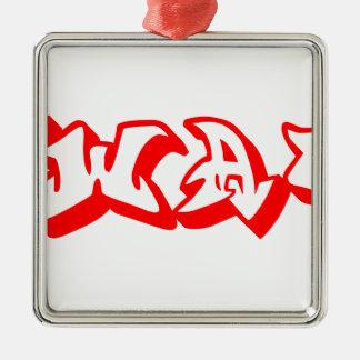 swag-graf-3d-red.png adorno navideño cuadrado de metal