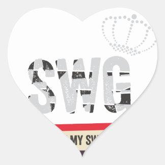 Swag Heart Sticker