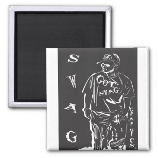 swag in white 2 inch square magnet