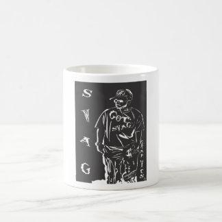 swag in white coffee mug