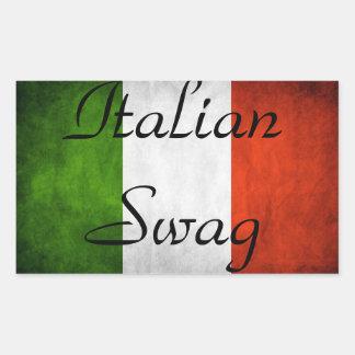 Swag italiano pegatina rectangular