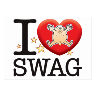Swag Love Man Large Business Cards (Pack Of 100)