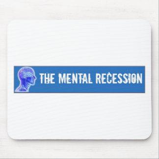 Swag mental de la recesión alfombrillas de ratón