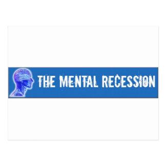 Swag mental de la recesión tarjeta postal