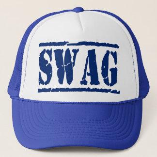 SWAG Mesh Snapback Trucker Hat (blue)
