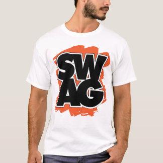 SWAG - negro y naranja Playera