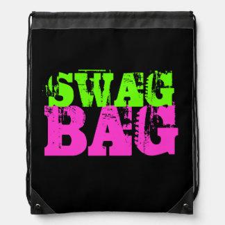 Swag neon color drawstring backpack bag