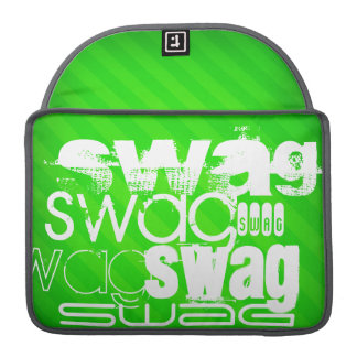 Swag; Neon Green Stripes Sleeve For MacBooks