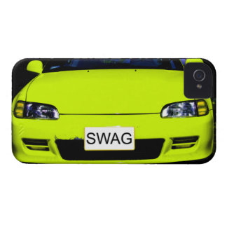 Swag Neon Yellow Car iPhone 4/4S Case