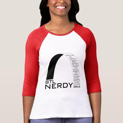 Swag Nerdy de los chicas de STL Playera