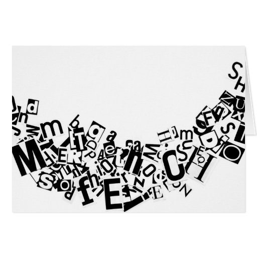 Swag Of Cutout Letters Greeting Cards