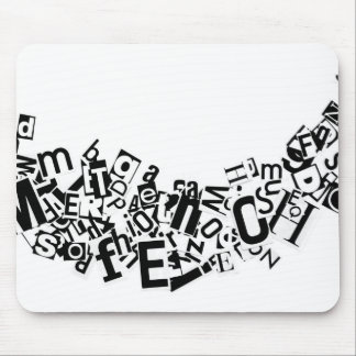 Swag of Cutout Letters Mouse Pad