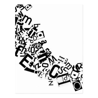 Swag of Cutout Letters Postcard