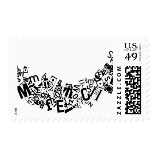 Swag of Cutout Letters Stamp