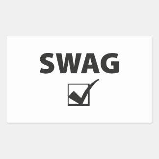 Swag Pegatina Rectangular