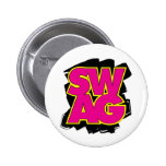 SWAG - Pink & Yellow 2 Inch Round Button