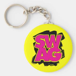 SWAG - Pink & Yellow Keychain