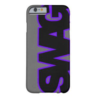SWAG púrpura de neón Funda Barely There iPhone 6