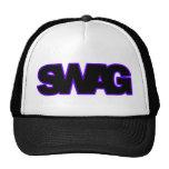 SWAG púrpura de neón Gorras