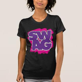 SWAG - púrpura y rosa Playera
