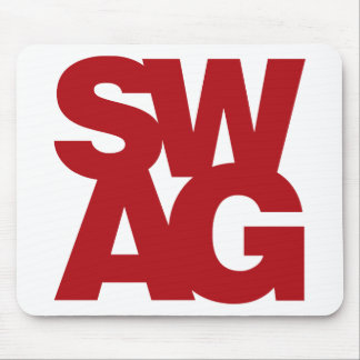 Swag - Red Mouse Pad