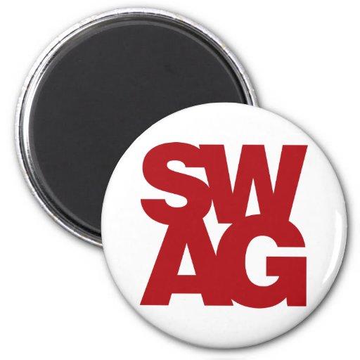 Swag - rojo imán redondo 5 cm
