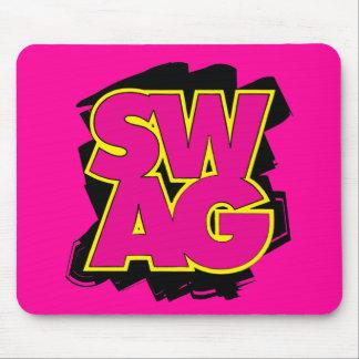 SWAG - rosa y amarillo Alfombrillas De Ratón