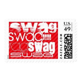 Swag; Scarlet Red Stripes Stamp