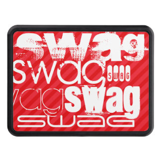 Swag; Scarlet Red Stripes Trailer Hitch Cover