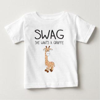 SWAG She Wants A Giraffe Baby T-Shirt
