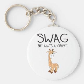 SWAG She Wants A Giraffe Keychain