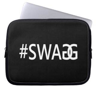 #SWAG / SWAGG Funny & Cool Quotes, Trendy Hash Tag Laptop Sleeve