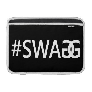 #SWAG / SWAGG Funny & Cool Quotes, Trendy Hash Tag MacBook Sleeves