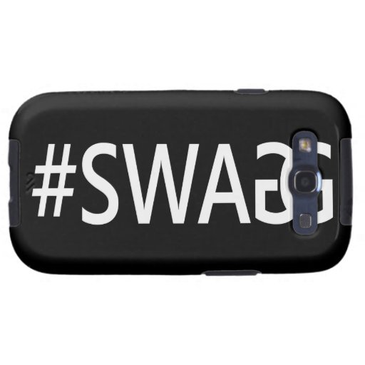 #SWAG / SWAGG Funny, Trendy, Cool Internet Quote Samsung Galaxy SIII Cases