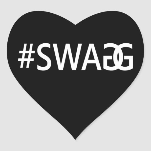 #SWAG / SWAGG Funny, Trendy, Cool Internet Quote Heart Sticker
