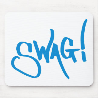 Swag Tag - Blue Mouse Pad