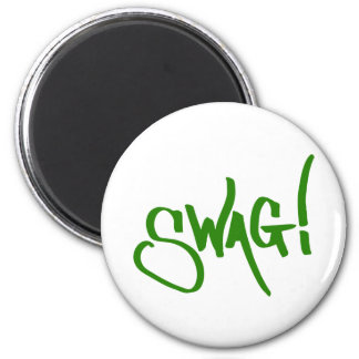 Swag Tag - Green Fridge Magnet