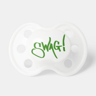 Swag Tag - Green Baby Pacifiers