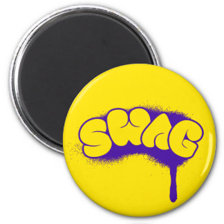 Swag Tag (Purple/Yellow) Fridge Magnets