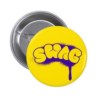 Swag Tag (Yellow/Purple) Pinback Button