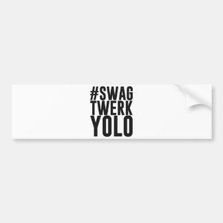 Swag Twerk Yolo de Hashtag Pegatina Para Auto