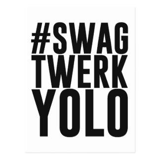 Swag Twerk Yolo de Hashtag Postales