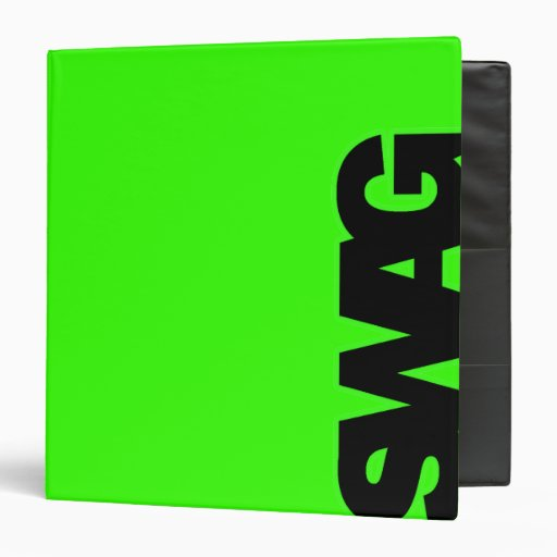 """SWAG verde de neón Carpeta 1 1/2"""""""