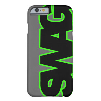SWAG verde de neón Funda Barely There iPhone 6