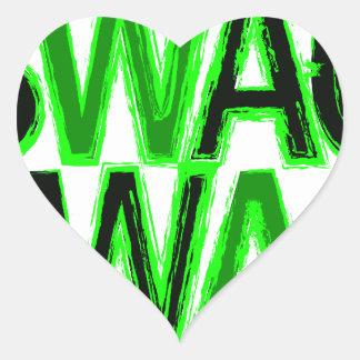 Swag - verde pegatina en forma de corazón
