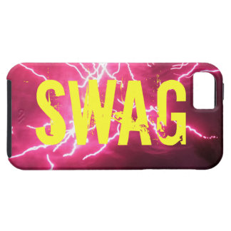 SWAG with Pink Fireworks iPhone 5 Case