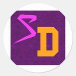 SwagDorm logotipo 6 de julio de 2012 Pegatina Redonda