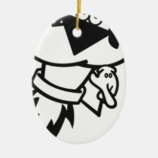 SwaGGed Out RoCKet Ceramic Ornament